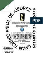 Torneo de Chess s.b. 2012