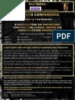 DUBAI Brochure - Masters Conference Featuring Tony Bingham - 15th May 2014