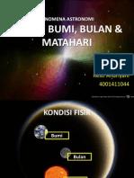 Fenomena Astronomi (Sistem Bumi, Bulan & Matahari)