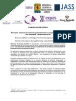 140514 COMUNICADO Alarmante Situación de Violencia y Discriminación vs Mujeres y Defensoras(1)