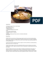 Receta Ramen Occidental