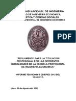 Informe Tecnico Nº 8 Cdplan de Tesis, Informes de Suficicia y Competencia Setiembre 2013