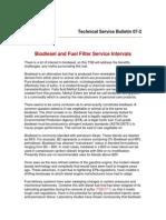 Biodiesel and Fuel Filter Service Intervals (TSB 07-02)