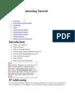 IP Address Sub Netting Tutorial