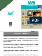 AAPA 2014 Conference Program