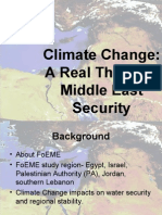 Climate Change a Real Threat to Middle East Secruity