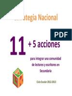Estrategias 11+5 2012-2013
