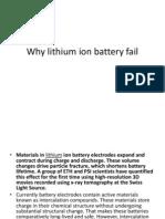 Why Lithium Ion Battery Fail