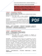 Maestria Politica Gestion Tributaria