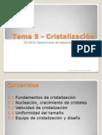 Presentacion Tema 5 - Cristalizacion