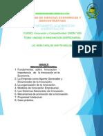 UNIDAD III Innovacion Empresarial CLASE