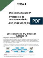 Direccionamiento IP, Protocolos de Enrutamiento