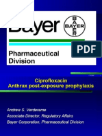 Ciprofloxacin Anthrax Post-exposure Prophylaxis