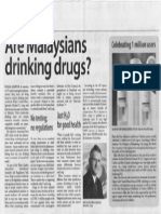 Are Malaysians Drinking Drugs