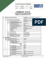 Hoja Tecnica Cosmo-R 14-8-19