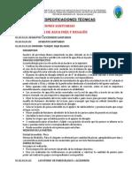 4.0 Especificaciones Técnicas Instalaciones Sanitarias