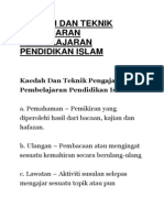 44 Kaedah Pndiidkan Islam