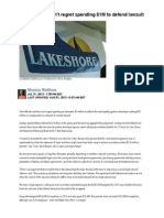 Lakeshore does not regret spending $1M to defend lawsuit