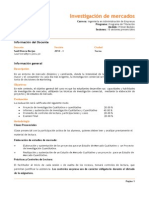 Silabo de Investigación de Mercados Pae 2014 Neumann