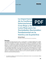 Importancia de La Conferencia Cruz Roja Internacional y Sociedades Nacionales