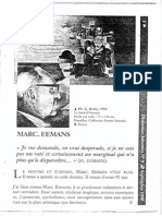 Marc Eemans in Dixformes-Informes No. 9, Septembere 1998