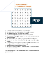 Unit 14 - Word Scramble (2D+3D Geometry)