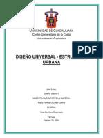 Diseño Universal - Estructura Urbana
