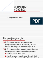 Sosialisasi EPSBED 2008-2