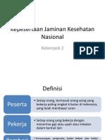 Kepesertaan Jaminan Kesehatan Nasional