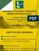 Seminario Bíblico - La Hermenéutica