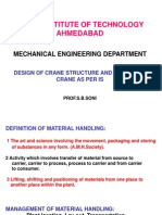 Design of Crane Structure & Testig of Crane as Per is-M.tech-Sem.ii