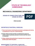 Design of Crane Structure & Testig of Crane as Per is-M.tech-Sem.ii