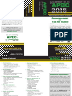 APEC2015 Call for Papers