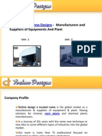 Techno Designs -  Manufacturers and Suppliers of Equipments And Plant