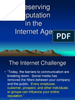 Reputation in Internet Age 10.9.09