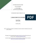 Labor Surplus Econonmies
