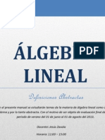 Álgebra Lineal.