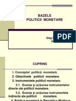 bazele politicii monetare