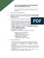 Malaysia Driving License Procedure