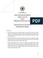 UU No 31 Tahun 1999 tentang Pemberantasan Tindak Pidana Korupsi