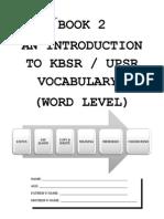 Basic Upsr Vocab