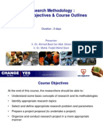 Course Outline - Research Methodology