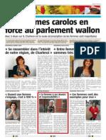 La Nouvelle Gazette - Nos Femmes Politique en Force Au Parlement Wallon - 02.06.14
