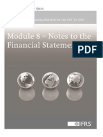 Notes to Annual Financial Statements - Module 8
