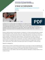 Los Beneficios de Tocar Un Instrumento, Nuria Llavina Rubio