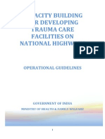 Operational Guidelines - National Trauma Care System - India