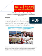 Potential for Peace in Burma or Regional Instability