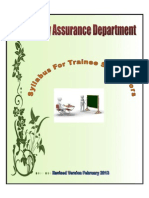 Syllabus for Tr Supervisors Quality Assurnace