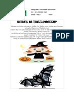 Halloween Vocabulary Handout