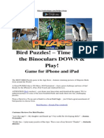 Bird Puzzles! – Time to Put the Binoculars DOWN & Play! iPhone iPad Game